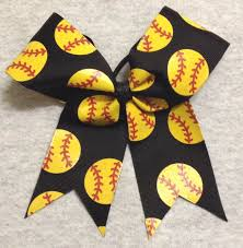 softball bows black softball glitter bow
