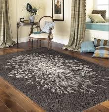 livingroom area rugs cozy plush solid gray area rug rectangular shape polypropylene rug