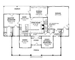 floor plans 2000 sq ft floor plan of country house plan 68178 2000 sq ft