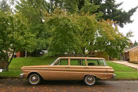 green ford station wagon old parked cars 1965 ford falcon wagon