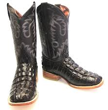 Images of New Cowboy Square Toe Alligator Exotic Skin Boots Size 8 1 2