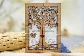 wooden wedding card rustic wedding invitation 50 engraved