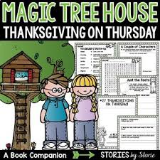 magic tree house 27 thanksgiving on thursday book questions tpt