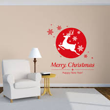 compare prices on deer wall decals online shopping buy low price christmas shop window glass decorative wall stickers christmas snowflakes festive red wall decals deer pattern wall