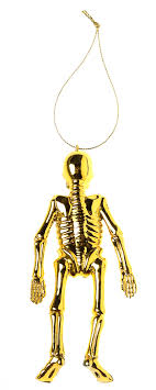 gold skeleton ornament set sourpuss clothing