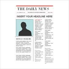 news report template 8 newspaper report templates illustration design files free
