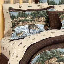 Fish Duvet Cover River Fishing Sheet Set Cabin Place