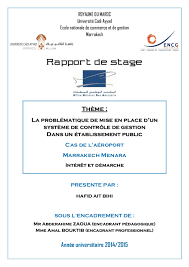 bureau des stages rapport de stage office national des aéroport