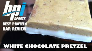editions bpi cuisine bpi best protein bar white chocolate pretzel review