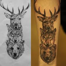 Forearm Wolf - deer wolf fineline forearm by christo at station
