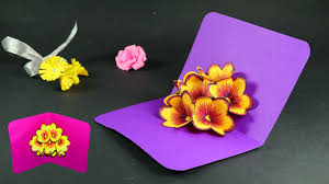 how to make pop up cards pop up flower card diy tutorial