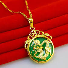 dragon jade necklace pendant images Gold necklace pendant pendant jade dragon lady pack 24k gold jpg