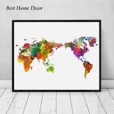 World Map Art Print by Compare Prices On Art Map Online Shopping Buy Low Price Art Map