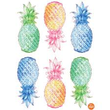 wallpops 24 in x 17 5 in multi color pop pineapple wall decal