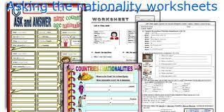 english teaching worksheets asking the nationality