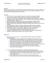 Quality Analyst Resume Sample Qa Resume 2016 Inside Keyword Download Game Test Engineer