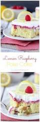 lemon raspberry poke cake beyond frosting
