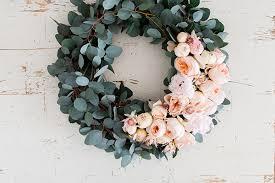 eucalyptus wreath diy 4 gorgeous flower wreaths conrad