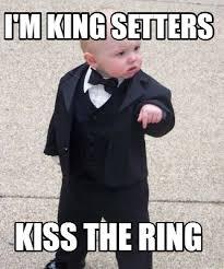 Now Kiss Meme Generator - meme maker im king setters kiss the ring