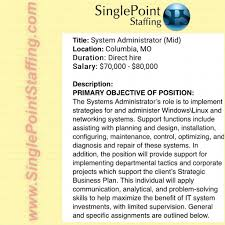 sharepoint administrator resume sample sharepoint administrator salary media violence essay causes of the singlepoint staffing linkedin 65b58342 01b4 4b57 8df2 5db8c7516f1a large singlepoint staffing sharepoint administrator salary