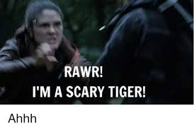 Ahhh Meme - rawr i m a scary tiger ahhh meme on me me