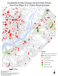 Washington Dc Walking Map by An Analysis Of Food Accessibility In Public Housing Areas Of South