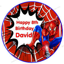 Edible Cake Decorating Paper Spiderman Edible Paper For Cake Topper 1pcs 8