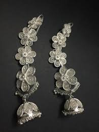 kaan earrings odissi silver filigree kaan earrings at rs 3200
