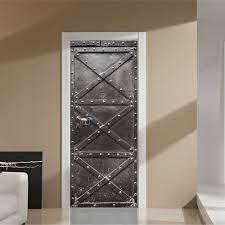 3d steel door wall sticker diy door stickers home decor