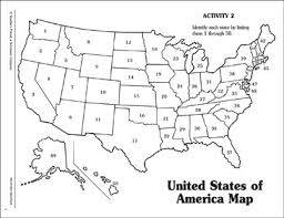 united states map blank with outline of states numbered united states of america map printable maps and skills
