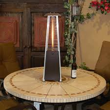 Table Top Patio Heaters Propane Sunmaster Bonfire Tabletop Glass Propane Patio Heater