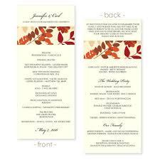 fall wedding programs wedding program template collage fall by diyweddingtemplates