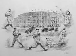yankee stadium drawings fine art america