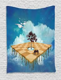 abstract art tapestry wall hanging surreal landscape home decor ebay