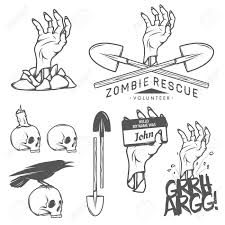 vintage black and white halloween images funny vintage halloween zombie labels signs and design elements