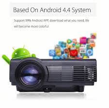Lcd Q5 powerful q5 android 4 4 wifi lcd projector 800 x 480