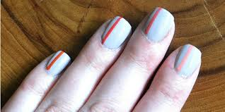 easy striped nail art tip junkie