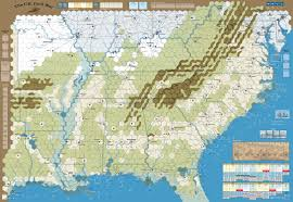 Map Of The United States During The Civil War by Gmt Games The U S Civil War