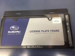 wrx subaru logo genuine subaru logo slim line black license plate frame soa342l153