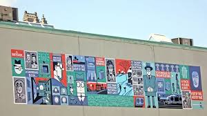Bookshelf Guelph Seth Creates Large Scale Mural For Downtown Guelph Guelphmercury Com
