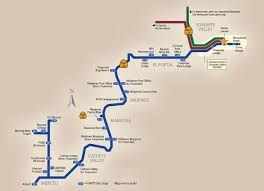 Amtrack Route Map by Merced U003e Mariposa U003e Yosemite Valley Yarts Public Transit To