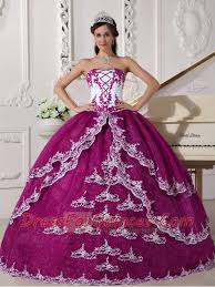 best quinceanera dresses gown fuchsia and white organza organza appliques strapless lace up