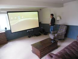 Large Garage by Large Garage Conversion To Create Movie Room In Hazlemere Hp15