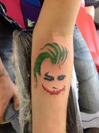 7 joker wrist tattoos design