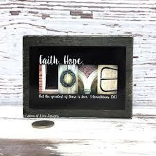 faith hope love wood ornament christmas gift christian home