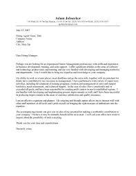 area sales representative cover letter entry level cover letter