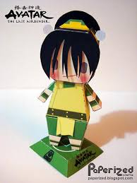 avatar airbender toph beifong free paper toy download