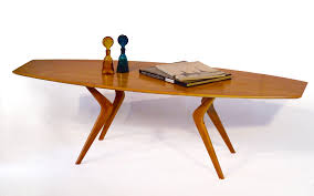 mid century modern surfboard coffee table buy a hand made modern coffee table boomerang leg design with