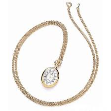 ladies necklace watch images Royal london ladies gold plated pendant watch with chain jpg