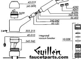 delta kitchen faucet parts diagram delta kitchen faucet repair parts on delta faucet repair